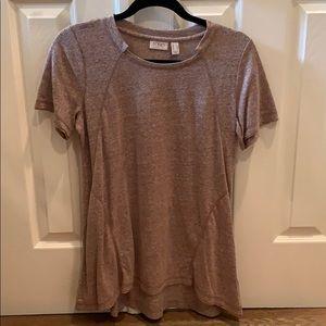LOGO tan T shirt cut collar size small